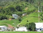 View of the hills from Riverside Stadium Charlotteville