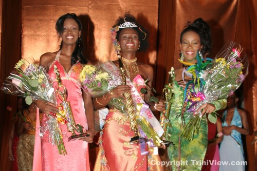 Left: 2nd Runner Up, Miss Nicola Sammy Ifill, Miss City of Port of Spain 2006, Miss Danielle Hamilton and 1st Runner Up, Miss Nikesha Jones