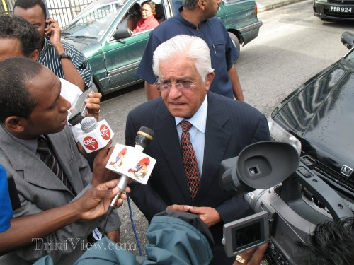 Basdeo panday on his way to the court